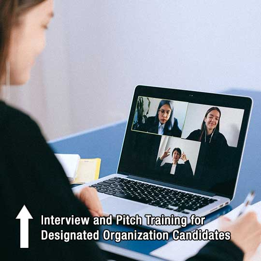 Interview and Pitch Training for Designated Organization Candidates